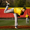 Floyd Central's Alex Koopman pitches during the Highlanders' game at Jeffersonville on Wednesday. Staff photo by Christopher Fryer