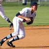 Providence third baseman Ben Katchur finds the ball to make an out against Silver Creek on Tuesday afternoon. Staff photo by C.E. Branham