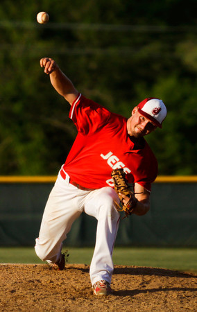 Jeffersonville's Chandler Dale pitches during the Red Devils' 7-6 victory at Floyd Central on Monday. Staff photo by Christopher Fryer