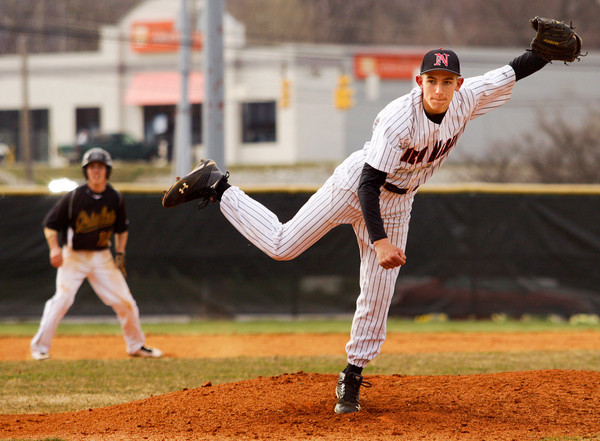 New Albany's Shane Robinson pitches during their home game against Avon on Thursday. Avon won the game, 9-3. Staff photo by Christopher Fryer