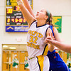 Floyd Central senior Abbie Engle fights for a rebound during the Highlanders' home game against Silver Creek on Thursday. Staff photo by Christopher Fryer