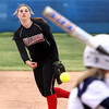 Hannah Martin delivers a pitch for the Lady Bulldogs Tuesday at Providence. Staff photo by C.E. Branham