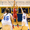 Junior Emily Gray goes up for a shot during Jeffersonville's game at North Harrison on Friday. Staff photo by Christopher Fryer