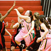 Floyd Central guard Brooke Hinton goes up for a shot during their game against New Albany on Saturday at New Albany. New Albany won the game in double overtime, 69-64. Staff photo by Christopher Fryer