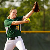 Floyd Central High School's Caroline Cato pitches during their game against Bedford North Lawrence High School in the Hoosier Hills Conference Softball Tournament at Floyd Central on Friday night. Floyd Central won the game in extra innings, 2-1. Staff photo by Christopher Fryer