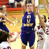 New Washington junior Courtney Amick shoots at New Albany Tuesday night. Staff photo by C.E. Branham