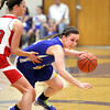 New Washington guard Courtney Amick fights through the Borden defense Tuesday night in a 1A Sectional game. Staff photo by C.E. Branham