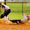 New Albany's Bailey Biggs slides safely into second base during their game against Providence on Tuesday. New Albany won the game, 3-0. Staff photo by Christopher Fryer