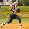 Providence shortstop Jacquie Hornung moves to throw to first during their game against Henryville at the Eastern High School sectional tournament on Monday. Providence won the game, 10-9. Staff photo by Christopher Fryer