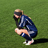 Providence defender Leah Mattingly kneels down after their 2-0 loss to Mishawaka Marian in the Class A state championship game in Indianapolis on Saturday. Staff photo by Christopher Fryer