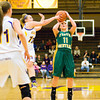 Junior Madison Kaiser goes up for a shot during Floyd Central's game at Scottsburg on Thursday. Staff photo by Christopher Fryer