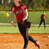New Albany's Hannah Morton pitches during their championship game against Lanesville in the New Albany softball invitational on Saturday. Staff photo by Christopher Fryer
