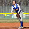 New Washington pitcher Whitney Morris delivers a pitch to Silver Creek Monday afternoon. Staff photo by C.E. Branham