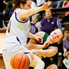 Senior Brooke Hinton makes a pass during Floyd Central's game at Scottsburg on Thursday. Staff photo by Christopher Fryer