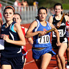 Silver Creek runner Jessica Backherms runs the opening leg of the 4x800 relay at the IHSAA Track and Field sectional Tuesday at Jeffersonville. Staff photo by C.E. Branham