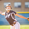 Providence senior Sierra Collett pitches during the Pioneers' home game against Clarksville on Tuesday. Staff photo by Christopher Fryer