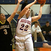 Silver Creek senior Alex Tinsley pulls down a rebound against Clarksville Wednesday night. Staff photo by C.E. Branham