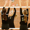 Henryville sophomore Cassidy Mull goes up for a shot during their home match against Christian Academy on Tuesday. Staff photo by Christopher Fryer