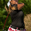 New Albany's Heidi Steinert tees off on the seventh hole during the Indiana High School Athletic Association Girls Sectional golf tournament at Valley View Golf Club on Saturday. Staff photo by Christopher Fryer