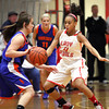 Jeffersonville guard Chelsea Lewis pressures Silver Creek point guard Brooke Barnett Friday night at Jeff. Staff photo by C.E. Branham