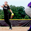 Hannah Heintzman delivers a pitch for the Clarksville Lady Generals against Paoli in the 2A sectional at Crawford County. Staff photo by C.E. Branham