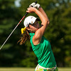 Floyd Central's Eliza Hudson hits from the fairway on the seventh hole during the Indiana High School Athletic Association Girls Sectional golf tournament at Valley View Golf Club on Saturday. Staff photo by Christopher Fryer