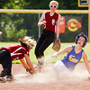 New Washington freshman Kaelin Williams slides safely into second base on a steal during the Mustangs' game against South Central at the Lanesville Sectional on Monday. Staff photo by Christopher Fryer