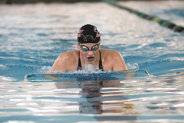 New Albany junior Hannah Manger swam to a sectional championship in the 200 yard individual medley.  Staff photo by C.E. Branham