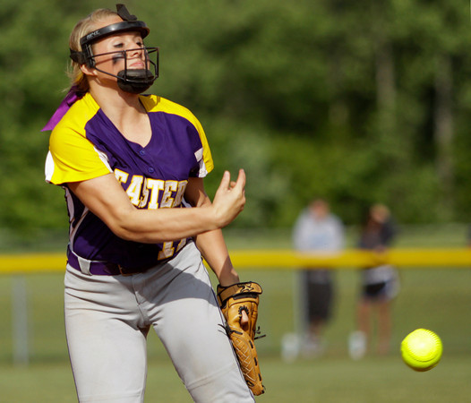Eastern sophomore Darcee Rogers pitches during their game against Providence in the championship round of the Eastern sectional tournament on Thursday. Providence won the game in five innings, 19-2. Staff photo by Christopher Fryer