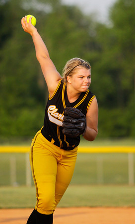 Clarksville senior Hannah Heintzman pitches during their game against Paoli at the Eastern High School sectional tournament on Monday. Staff photo by Christopher Fryer