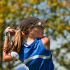 Christian Academy of Indiana's  Sydney Shrebtienko tees off on the second hole during the Indiana High School Athletic Association Girls Sectional golf tournament at Valley View Golf Club on Saturday. Staff photo by Christopher Fryer