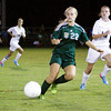 Floyd Central forward Emma Pappas moves the ball down field during their game at Providence on Tuesday. Floyd Central won the game 3-1. Staff photo by Christopher Fryer
