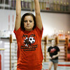 Jeffersonville junior gymnast Hannah Scott works on her floor routine during team practice at SIGS Sportsplex in New Albany on Wednesday. Staff photo by Christopher Fryer