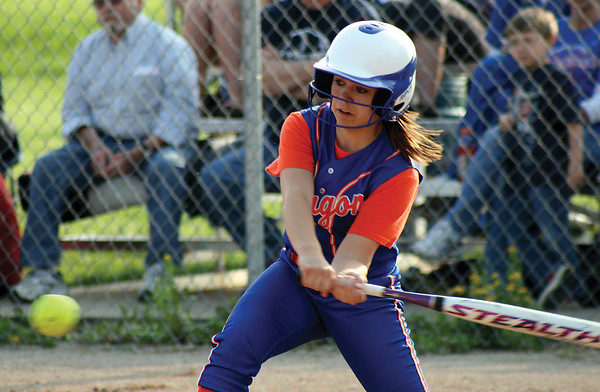 Silver Creek's Brooke Barnett bats for the Dragons on Monday during their game against New Washington. Staff photo by Elizabeth Goodman