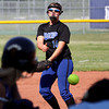Alli Webster delivers a pitch for the Lady Pirates at New Washington on Wednesday. Staff photo by C.E. Branham