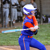 Silver Creek batter Shayla Cravens connected for a single against Clarksville on Thursday. Staff photo by C.E. Branham