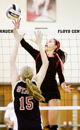 New Albany junior Brooklyn McCoy goes up for a shot during their match against Bedford North Lawrence in the Floyd Central Sectional on Thursday. Staff photo by Christopher Fryer
