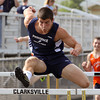 Owen Mattingly from Providence High School won the 110 meter hurdles. Staff photo by C.E. Branham