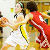 Floyd Central guard Shelby Rost moves to pass during the Highlanders' home game against Jeffersonville on Thursday. Staff photo by Christopher Fryer