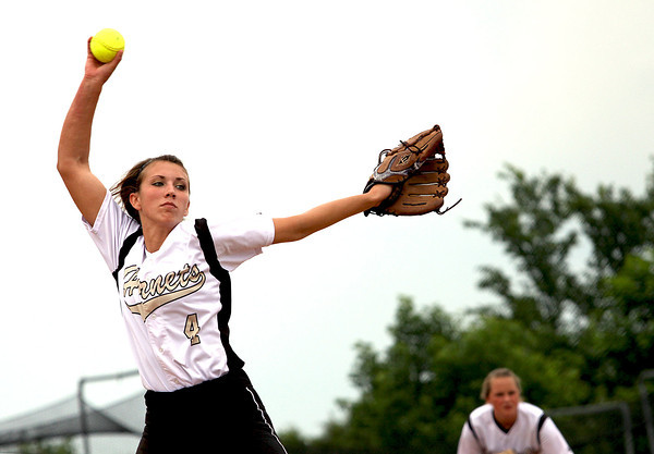 Natalie Basham got the win for Henryville against Crawford County in the 2A Sectional Monday. Staff photo by C.E. Branham