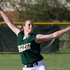 Caroline Cato delivers a pitch for Floyd Central in a game against visiting Charlestown on Thursday. Staff photo by C.E. Branham