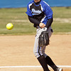 Charlestown's Carly Price pitches during their game against Crawford County at the Providence Invitational in Clarksville on Saturday. Charlestown won the game, 16-1. Staff photo by Christopher Fryer