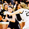 Providence guard Bayley Wade drives the ball downcourt during the Pioneers' 63-37 victory over Henryville in the championship game of the Henryville Tipoff Tournament on Saturday. Staff photo by Christopher Fryer