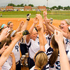 Providence celebrates their 19-2 win over Eastern in the championship game of the Eastern sectional tournament on Thursday. Staff photo by Christopher Fryer