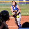 New Washington pitcher Whitney Morris delivers a pitch in a game against Charlestown on Wednesday. Staff photo by C.E. Branham
