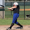 Charlestown batter Alyssa Price connects for a double against Floyd Central on Thursday. Staff photo by C.E. Branham