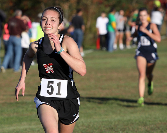 New Albany cross country runner Rose Kaforski at the Crawford County Sectional on Tuesday. Staff photo by C.E. Branham