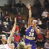 New Washington guard Ashley Johnson puts up a shot aginst South Central Friday night in a semi-final of the Borden 1A sectional.  Staff photoi by C.E. Branham