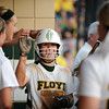 Highlander sophomore Gabbi Jenkins returns to the dugout after adding another run to Floyd Centrals' 7-0 win over Castle in the Class 4A regional Tuesday evening. <br /> Staff photo by Tyler Stewart