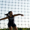 Providence senior Kayla Meisner throws during the discus competition at the Indiana High School Athletic Association Girls Track Sectional at Floyd Central High School on Tuesday evening. Staff photo by Christopher Fryer